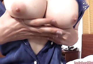 Ladyboy Sang Blowjob n Raw Dick Riding