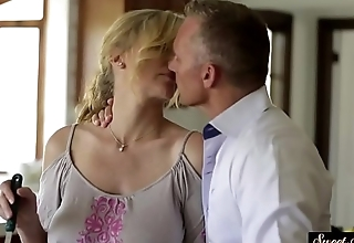 Taboo stepmom fucked and covered in jizz