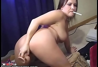 Smoking Doggystyle Dildo Suck and Fuck- ALHANA WINTER - Bonus Camshow