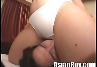Cute asian Girl facesitting