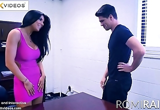 Romi Rain the Busty Secretary in the office is a Horny Slut!