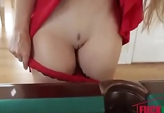 Sloan Harper in Baby Talking Over Billiards