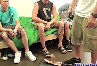 College twink hazed and anally drilled