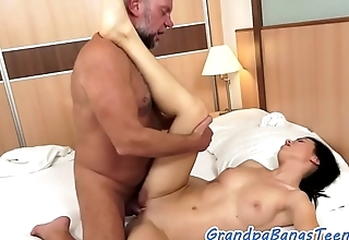 Eurobabe screwed hard by a pensioners cock