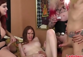 Gorgeous piladyboy drilled in foursome