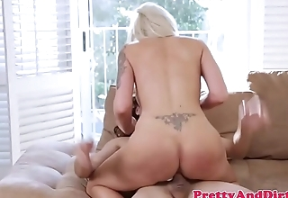 Cougar stepmom sucking and riding dick