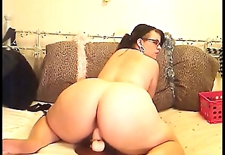 Cute BBW Riding Her Dildo On Cam