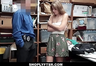 Shoplyfter - Hot Teen Fucked By Security Guard