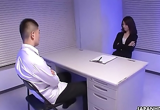 Naughty police inspector interrogates the suspect'_s cock with her mouth