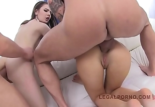 LEGALPORNO FULL SCENE - Timea &amp_ Sandra 2 sluts on 2 cocks