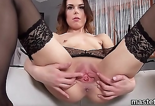 Hot czech chick stretches her narrowed twat to the strange