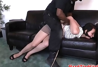 Gagged sub tiedup and toyed by maledom