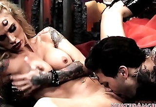 Devilish alt beauty pounded and choked