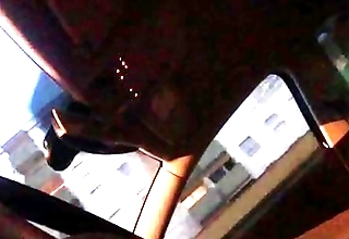 Flash dick in car  and she likes