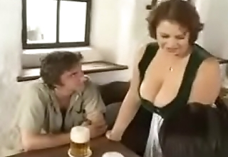 Hot BBW Mom seducing young boys in bar (vintage)