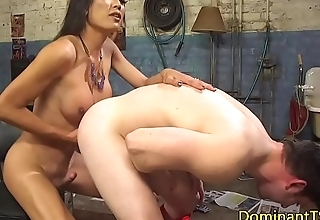Dominating asian transgender assfucking hunk