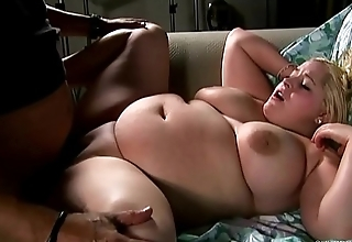 Bubbly big tits blonde BBW loves to suck, fuck &amp_ eat cum
