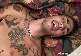 Hairy Tatted Hottie Talks Dirty