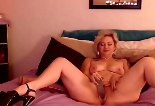 Lucky cheating wife with sexy eyes and high heels