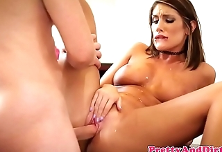 Bigtit model cockriding in the office