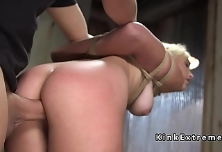 Rope bondage training and rough sex