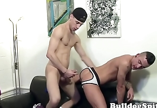 Assfucked english muscle hunk drenched in cum