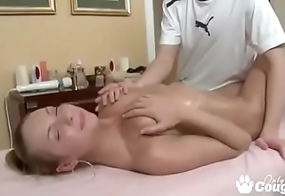 Teen Gets An Erotic Massage Then A Pussy Creampie