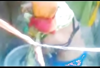 South Indian village girl Taking Bath Outside Video part 9