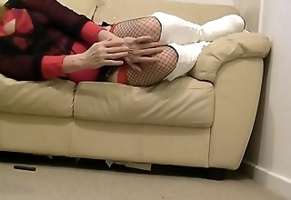 Submissively Farah White Boots Oct17