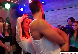 European party babes seduced by the stripper