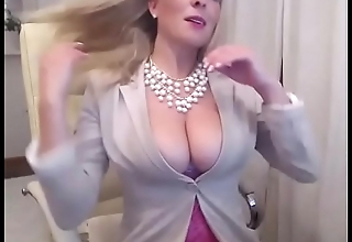 Super hot blonde girl live porn from office