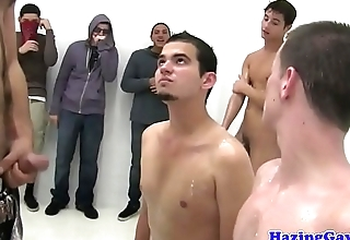 College twinks stripped and banged at hazing